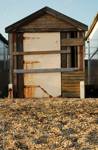 dilapidated beach hut