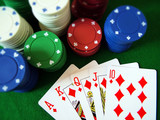 playing poker poster