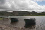 fishing boats at lake,lake district,uk