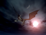 dragon attack - nacht szene poster