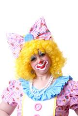puzzled female clown