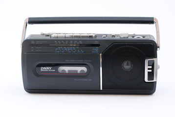 portable radio cassette recorder