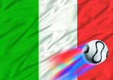 italy world cup flag poster