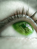 chip en ojo poster