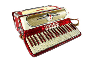 accordion on white