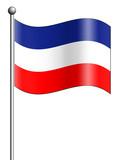 serbia montenegro flag poster