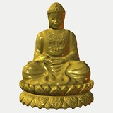 buddha - gold poster