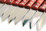 steak knives row poster
