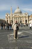 elderly tourist in rome poster