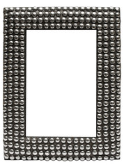 leather picture frame w/ metal balls (path incl.)