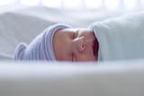 peaceful newborn poster
