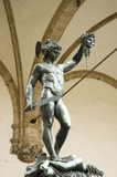 bronze statue of perseus, florence, tuscany, italy poster