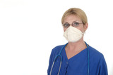 doctor or nurse in surgical mask 12 poster