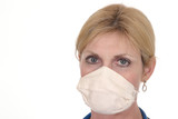 beautiful doctor or nurse in surgical mask 13 poster
