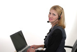 attractive customer service operator 4 poster