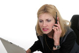 attractive customer service operator 1 poster