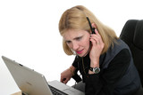 attractive customer service operator 2 poster