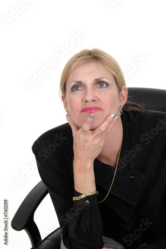 poster of executive business woman thinking 5