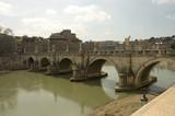 bridge san angelo , rome, italy poster