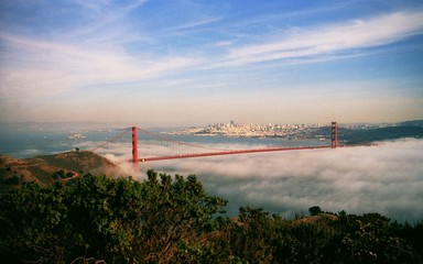 san francisco golden gate im nebel