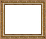 antique rustic golden picture frame isolated poster