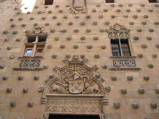 coquillages sur façade à salamanque