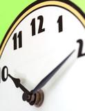 bright colored clock poster