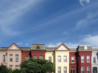 dc rowhouse rooftops