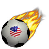 world cup soccer/football - usa on fire poster