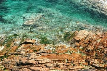 mer turquoise à bréhat