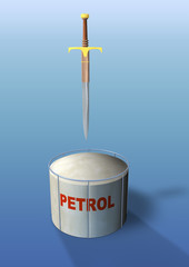 tank petrol and damocles