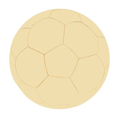 retro soccer ball isolated