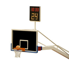 basketball board with 24 seconds timer
