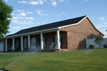 brick home with front porch