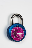 bright colored combination lock poster