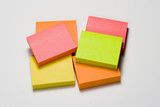 pile of fluorescent sticky notes poster