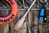 boating scene poster