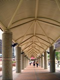 covered pedestrian walkway poster