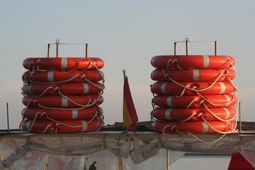 pilas de flotadores
