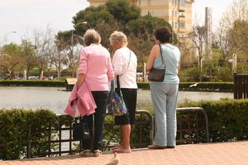small group of three women