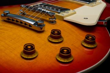 electric guitar closeup
