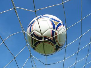 soccer net with ball