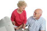 retired couple online poster