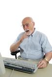 senior man shocked online poster