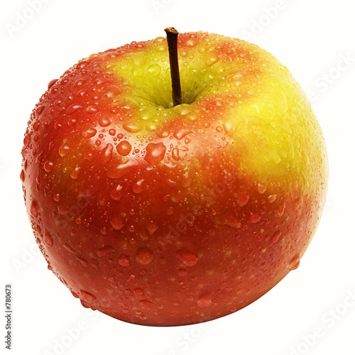 apple red-yellow w / raindrops (path included)