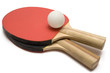 ping pong paddles w/ ball