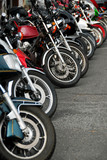 row of motobikes poster