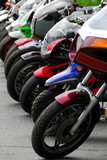 row of motocycles poster