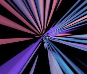 rainbow beams. abstract