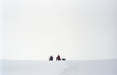 two climbers on the saddlet